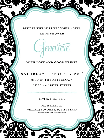 how to make quick free invites black and white printer